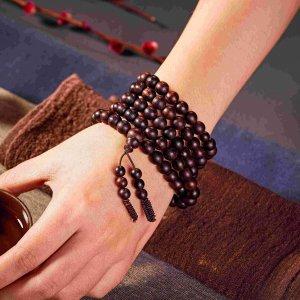 Bộ dây chuỗi hạt đeo tay 108 hạt gỗ thả hương