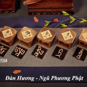 Đàn hương hình Ngũ Phương Phật