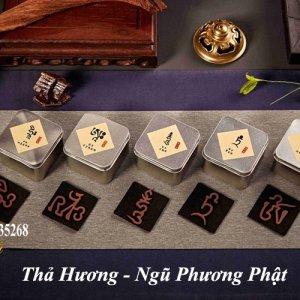 Trầm hương hình Ngũ Phương Phật