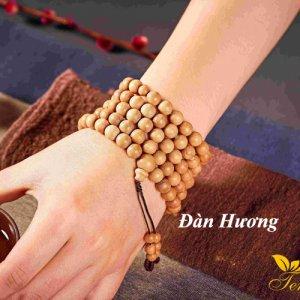 Bộ dây chuỗi hạt đeo tay 108 hạt gỗ đàn hương